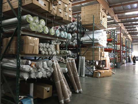 Home Decor Fabric Rolls in the Warehouse