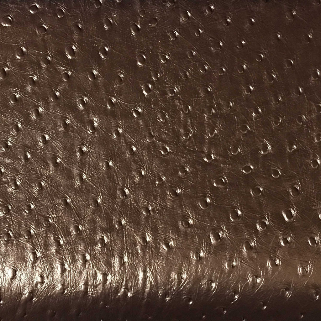 Albany - Ostrich Animal Print Vinyl Fabric Upholstery Fabric by the Yard - Available in 8 Colors - Penny - Top Fabric - 6