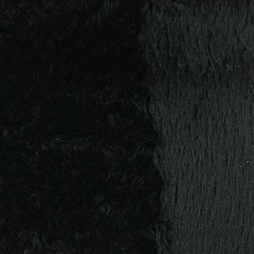 Angel - Long Pile Velvet Fabric by the Yard - Available in 15 Colors - Black - Top Fabric - 9