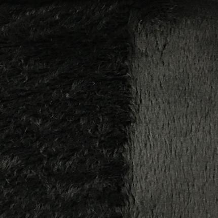 Angel - Long Pile Velvet Fabric by the Yard - Available in 15 Colors - Charcoal - Top Fabric - 11