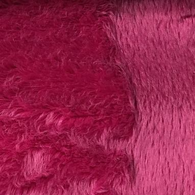Angel - Long Pile Velvet Fabric by the Yard - Available in 15 Colors - Fuchsia - Top Fabric - 3