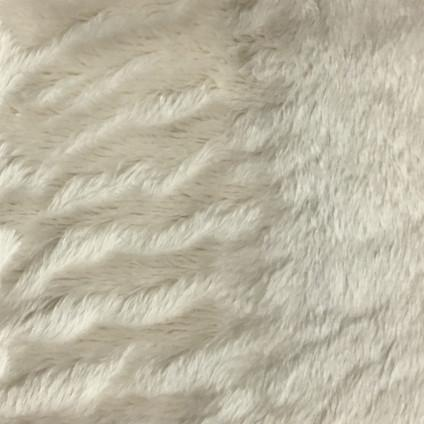 Angel - Long Pile Velvet Fabric by the Yard - Available in 15 Colors - Ivory - Top Fabric - 1