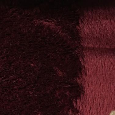Angel - Long Pile Velvet Fabric by the Yard - Available in 15 Colors - Wine - Top Fabric - 5