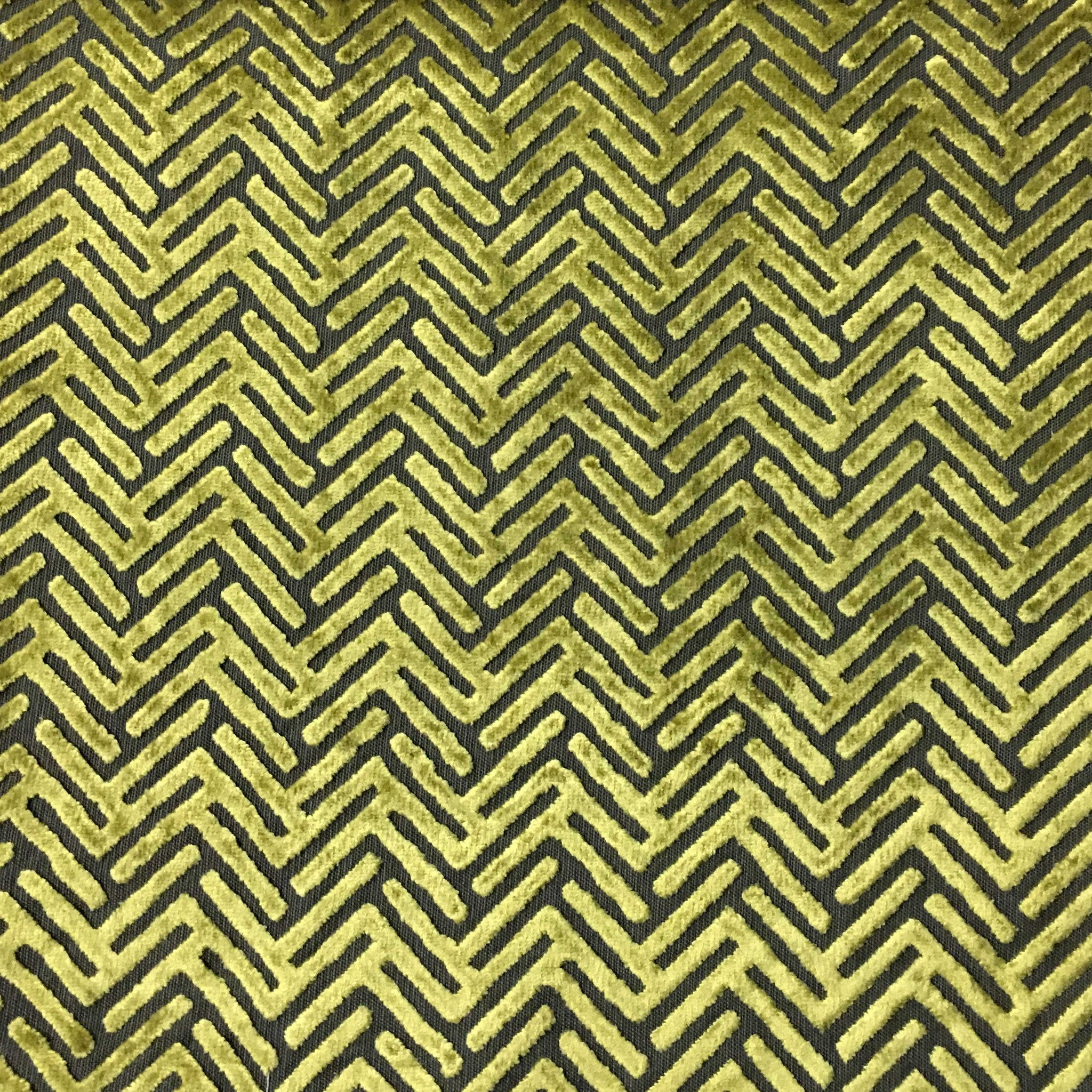 Apollo Geometric Burnout Velvet Upholstery Fabric by the