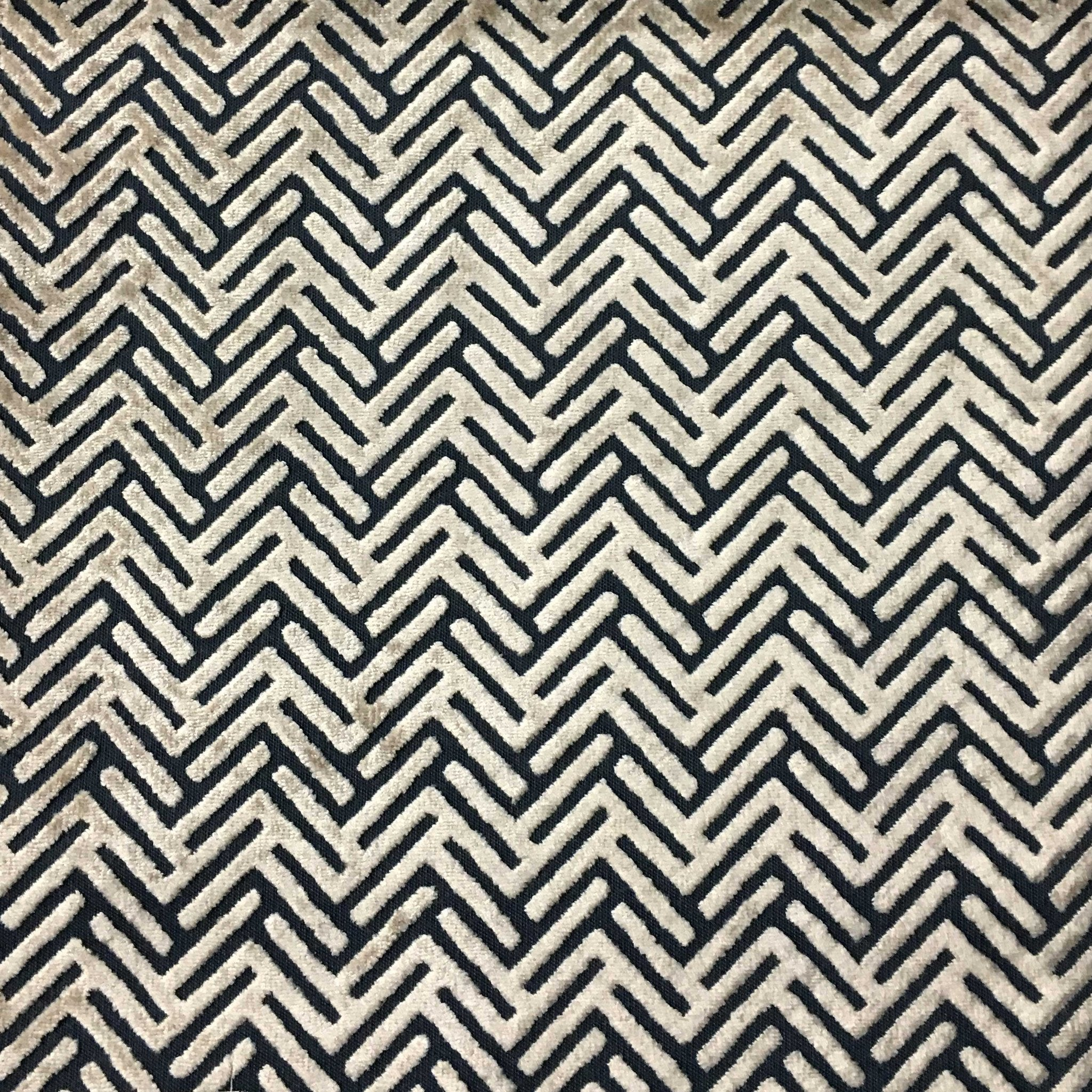 Apollo geometric burnout velvet upholstery fabric by the for Outdoor fabric by the yard