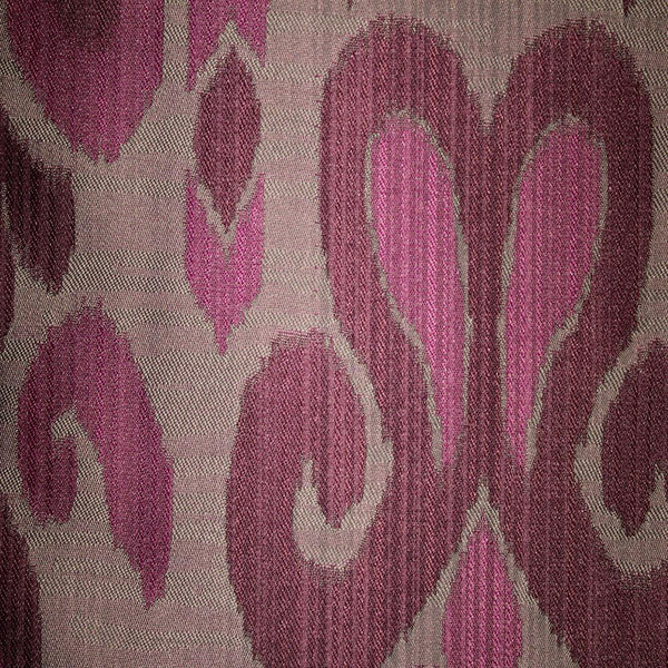 Baron - Jacquard Ikat Designer Pattern Home Decor Drapery Fabric by the Yard - Available in 9 Colors - Domino - Top Fabric - 1