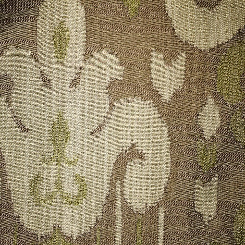 Baron - Jacquard Ikat Designer Pattern Home Decor Drapery Fabric by the Yard - Available in 9 Colors - Grass - Top Fabric - 6