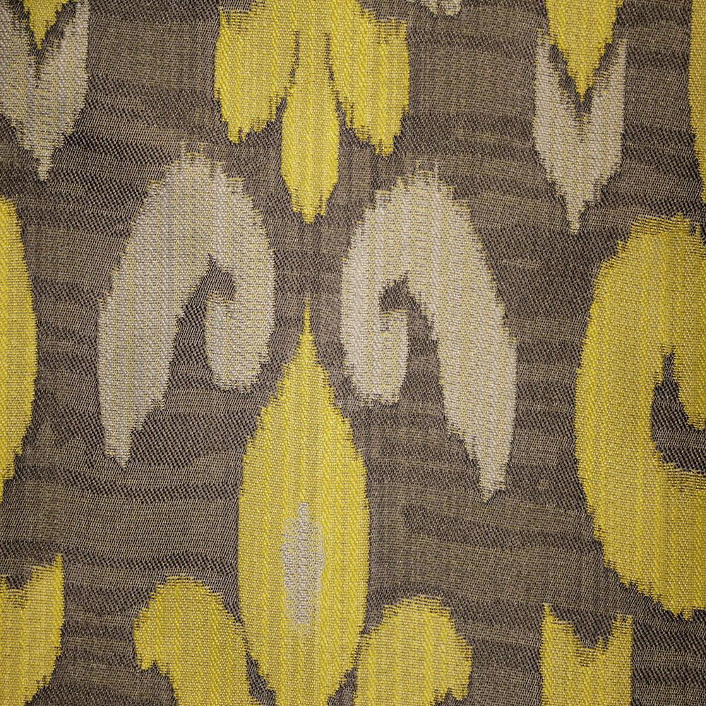 Baron - Jacquard Ikat Designer Pattern Home Decor Drapery Fabric by the Yard - Available in 9 Colors - Sunny - Top Fabric - 8