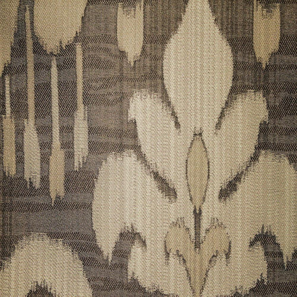 Baron - Jacquard Ikat Designer Pattern Home Decor Drapery Fabric by the Yard - Available in 9 Colors - Thunder - Top Fabric - 7