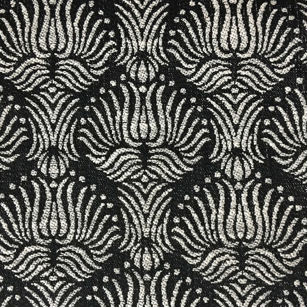 Bayswater - Jacquard Fabric Woven Texture Designer Pattern Upholstery Fabric by the Yard - Available in 10 Colors - Domino - Top Fabric - 1