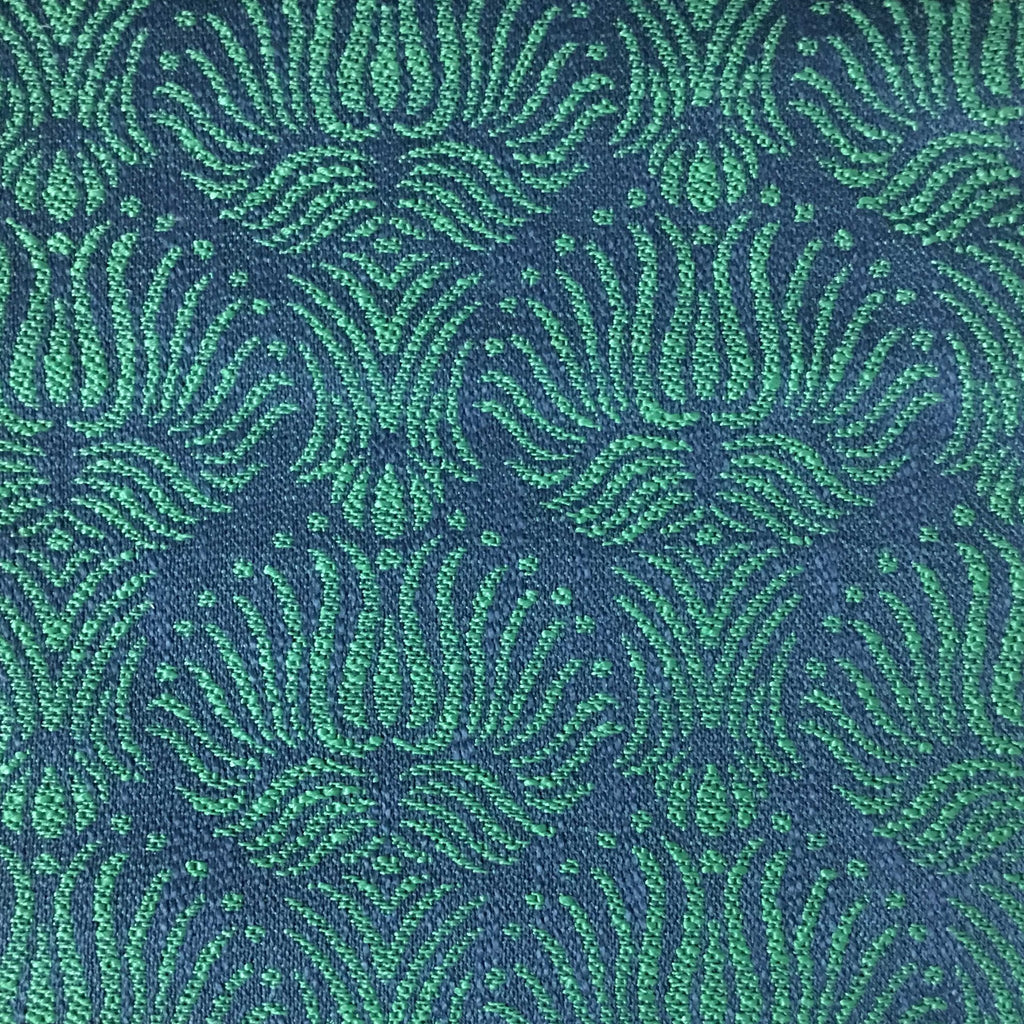 Bayswater - Jacquard Fabric Woven Texture Designer Pattern Upholstery Fabric by the Yard - Available in 10 Colors - Emerald - Top Fabric - 6