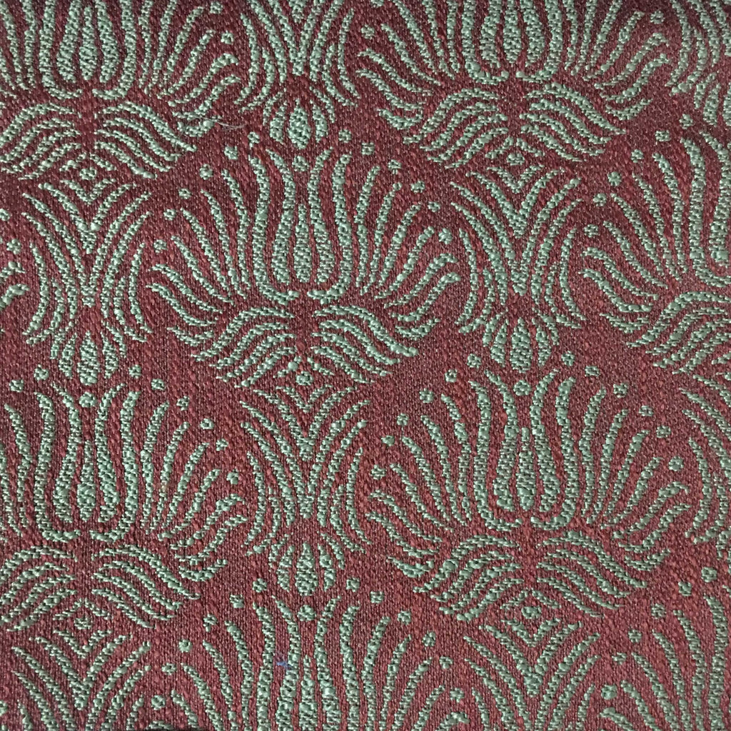 Bayswater - Jacquard Fabric Woven Texture Designer Pattern Upholstery Fabric by the Yard - Available in 10 Colors - Henna - Top Fabric - 2