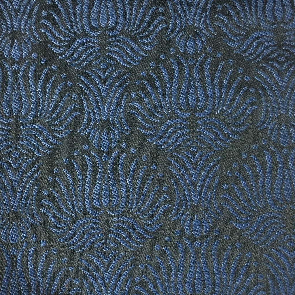 Bayswater - Jacquard Fabric Woven Texture Designer Pattern Upholstery Fabric by the Yard - Available in 10 Colors - Indigo - Top Fabric - 5