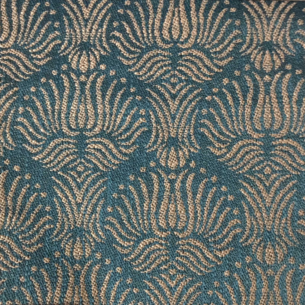Bayswater - Jacquard Fabric Woven Texture Designer Pattern Upholstery Fabric by the Yard - Available in 10 Colors - Laguna - Top Fabric - 3