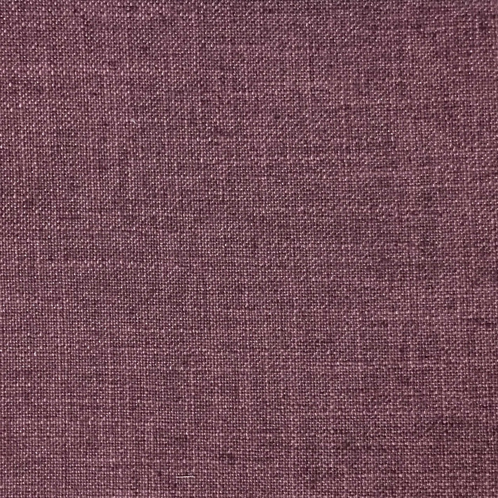 Blake - Linen Polyester Blend Burlap Upholstery Fabric by the Yard - Available in 30 Colors - Amethyst w/ Backing - Top Fabric - 3