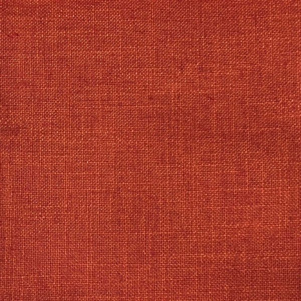 Blake - Linen Polyester Blend Burlap Upholstery Fabric by the Yard - Available in 30 Colors - Atomic w/ Backing - Top Fabric - 6