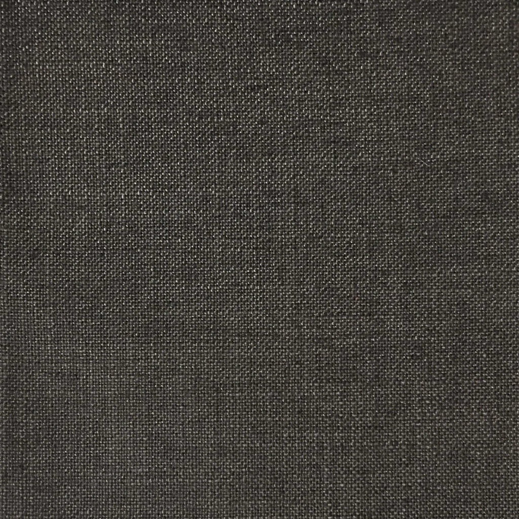 Blake - Linen Polyester Blend Burlap Upholstery Fabric by the Yard - Available in 30 Colors - Chocolate w/ Backing - Top Fabric - 24