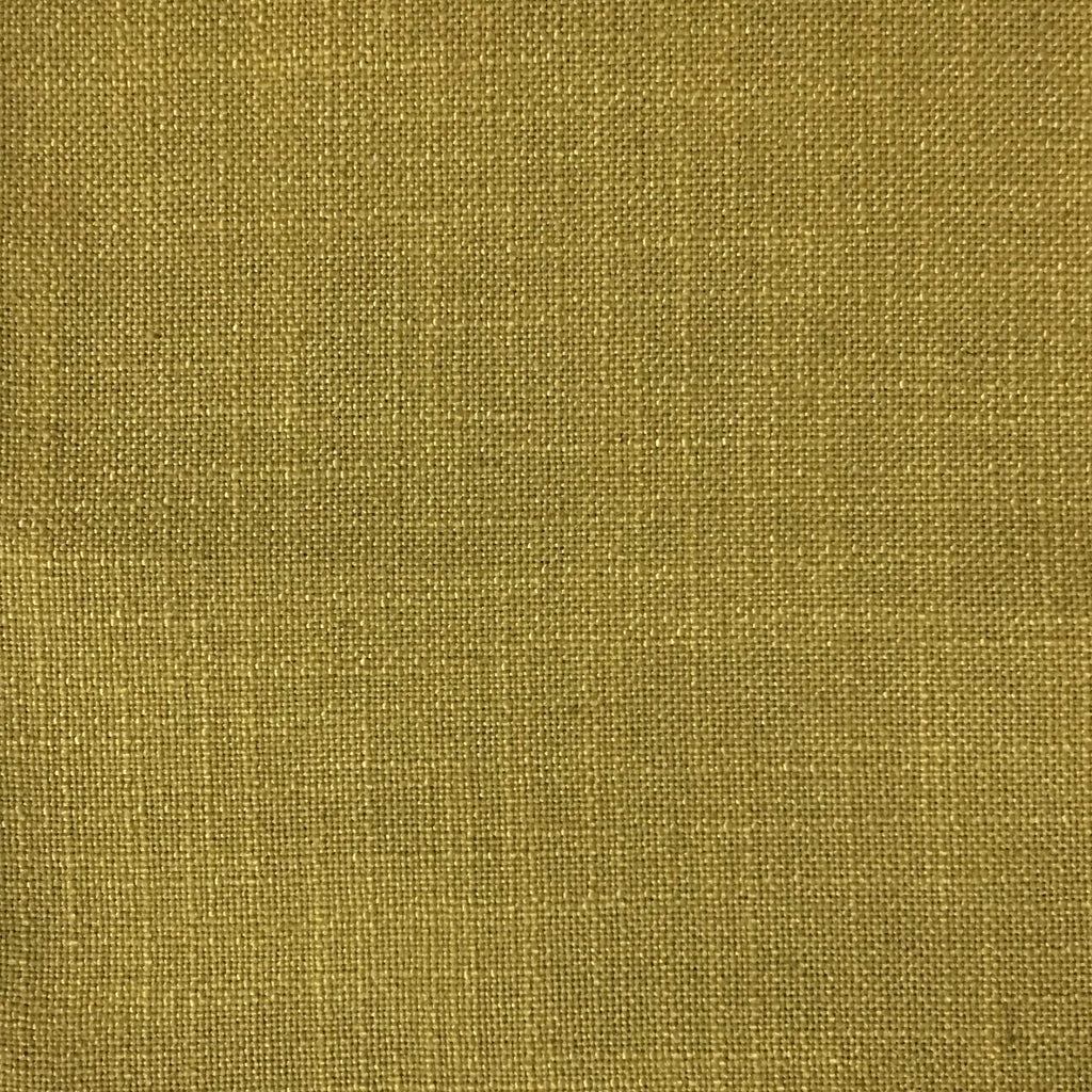 Blake - Linen Polyester Blend Burlap Upholstery Fabric by the Yard - Available in 30 Colors - Citron - Top Fabric - 9