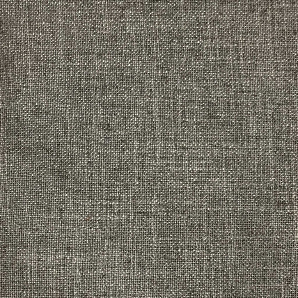 Blake - Linen Polyester Blend Burlap Upholstery Fabric by the Yard - Available in 30 Colors - Cobblestone w/ Backing - Top Fabric - 25
