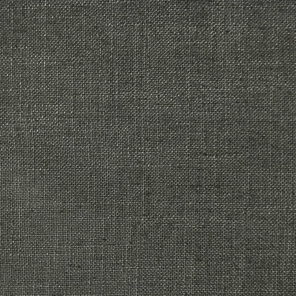 Blake - Linen Polyester Blend Burlap Upholstery Fabric by the Yard - Available in 30 Colors - Dolphin w/Backing - Top Fabric - 22