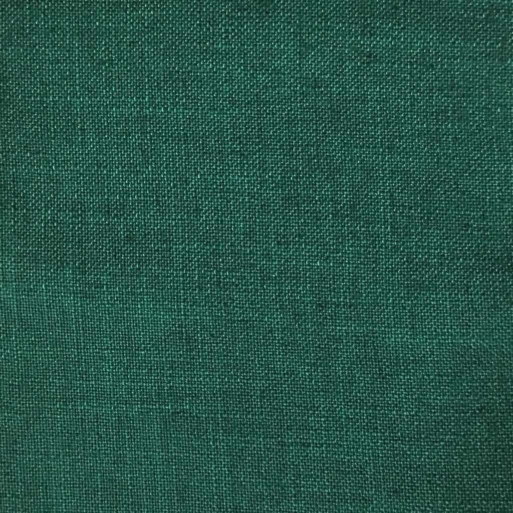 Blake - Linen Polyester Blend Burlap Upholstery Fabric by the Yard - Available in 30 Colors - Emerald - Top Fabric - 13
