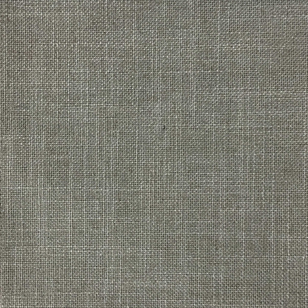 Blake - Linen Polyester Blend Burlap Upholstery Fabric by the Yard - Available in 30 Colors - Feather w/ Heavy Backing - Top Fabric - 26