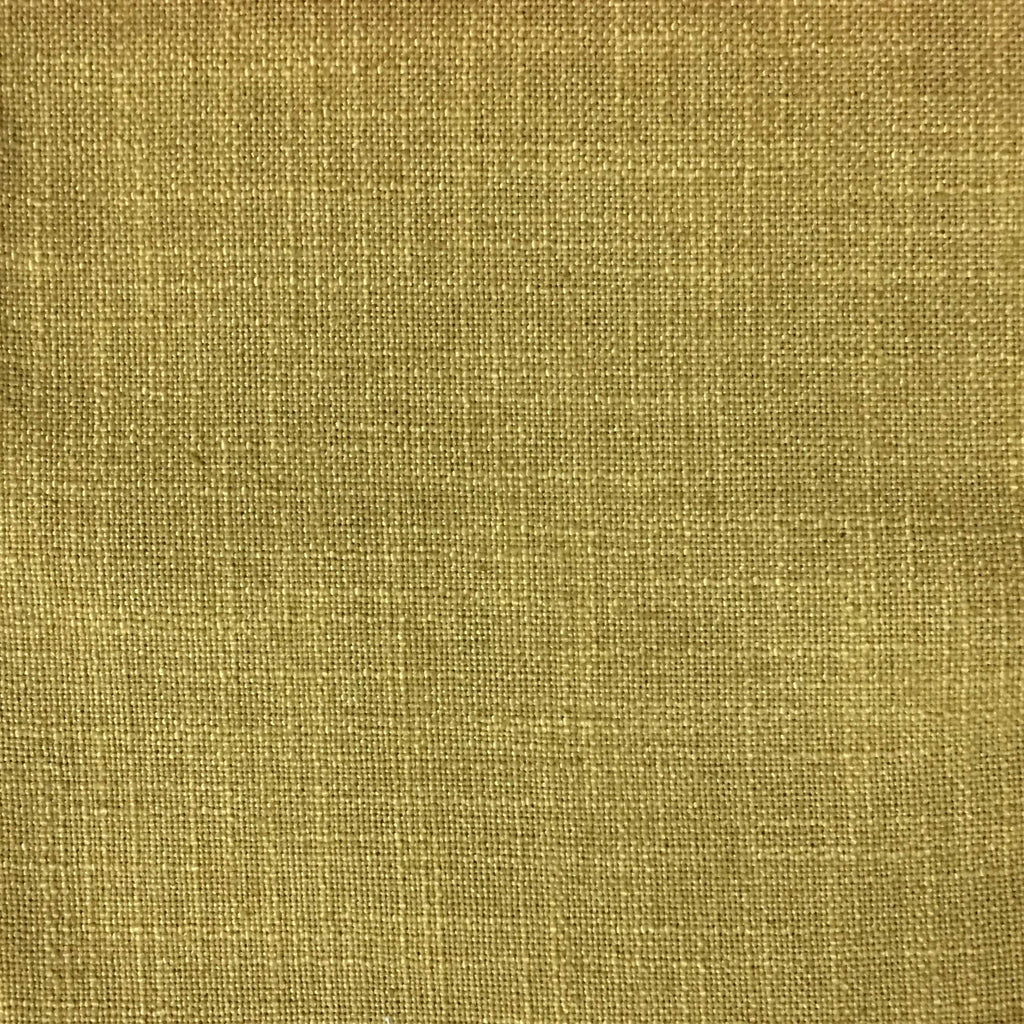 Blake - Linen Polyester Blend Burlap Upholstery Fabric by the Yard - Available in 30 Colors - Golden - Top Fabric - 10