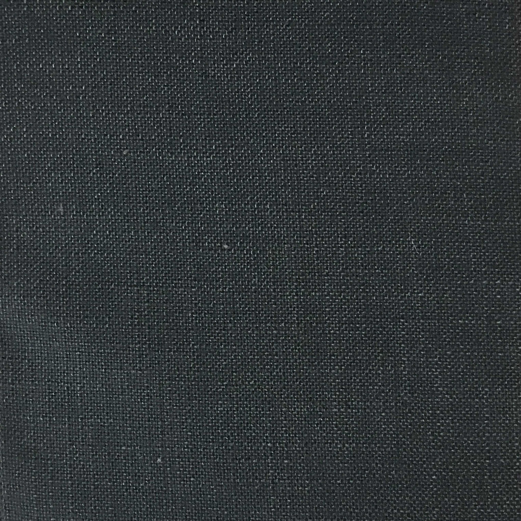 Blake - Linen Polyester Blend Burlap Upholstery Fabric by the Yard - Available in 30 Colors - Gun Metal - Top Fabric - 17