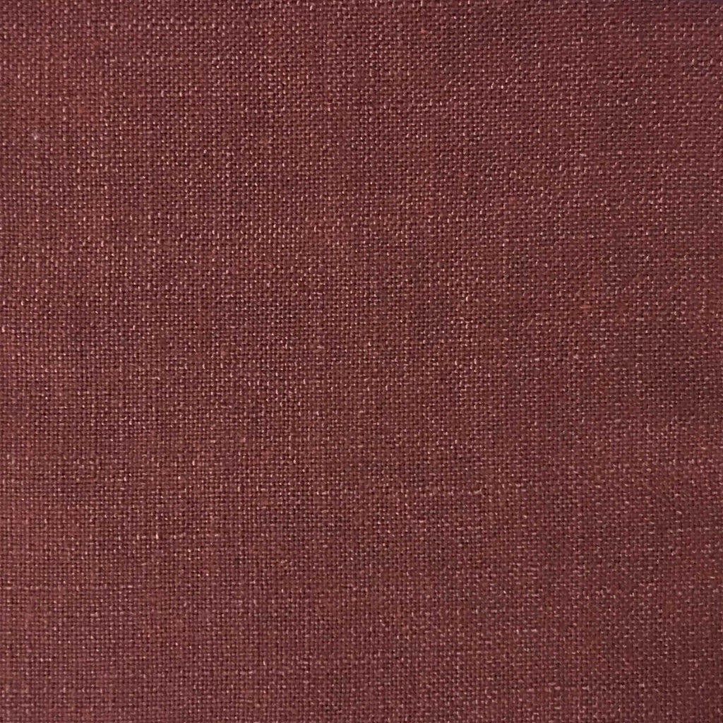 Blake - Linen Polyester Blend Burlap Upholstery Fabric by the Yard - Available in 30 Colors - Henna - Top Fabric - 5