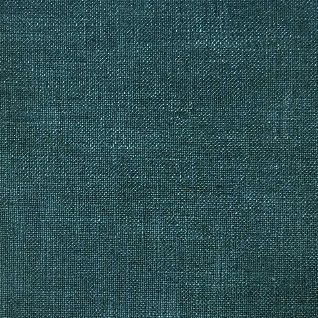 Blake - Linen Polyester Blend Burlap Upholstery Fabric by the Yard - Available in 30 Colors - Laguna w/ Backing - Top Fabric - 15