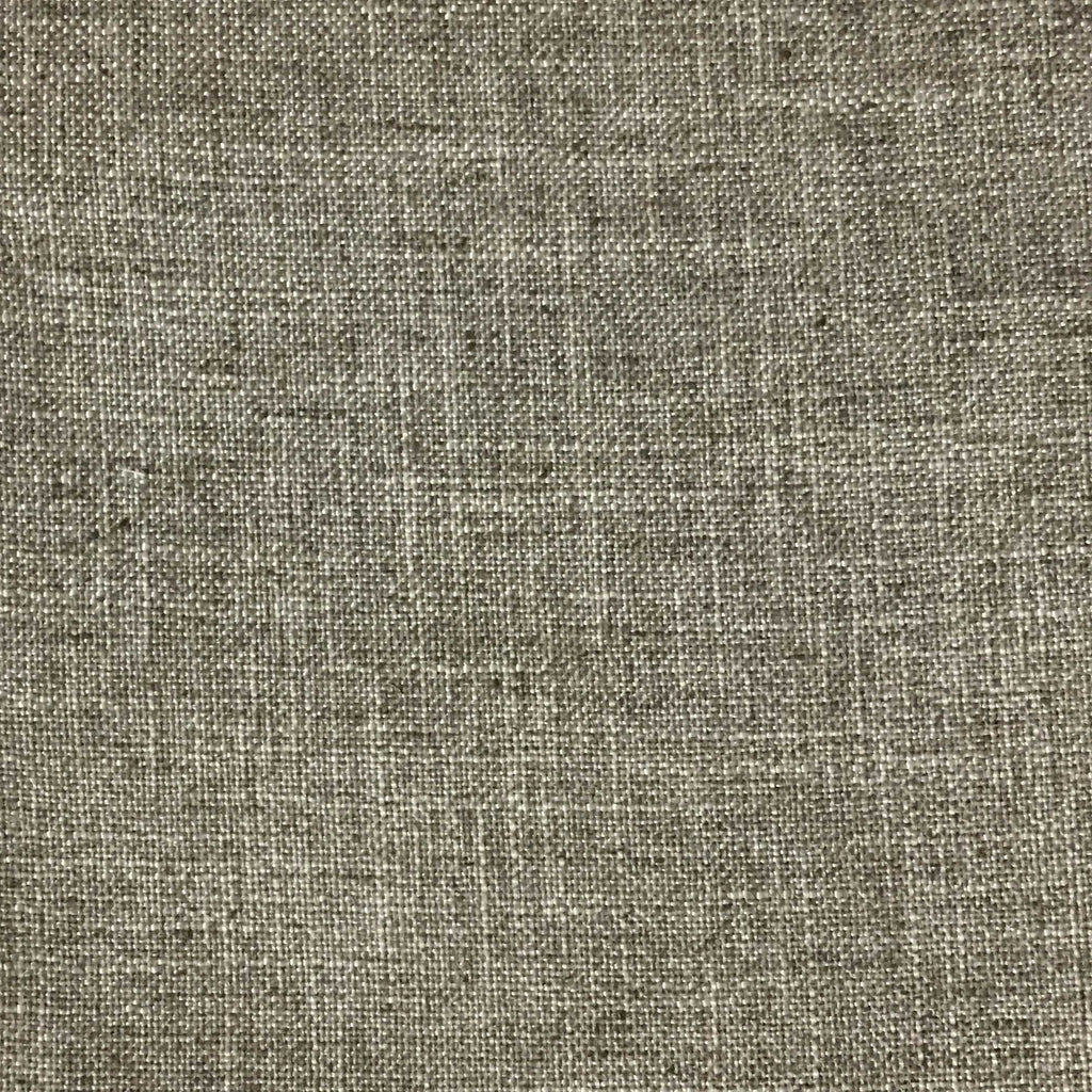 Blake - Linen Polyester Blend Burlap Upholstery Fabric by the Yard - Available in 30 Colors - Linen w/ Backing - Top Fabric - 2