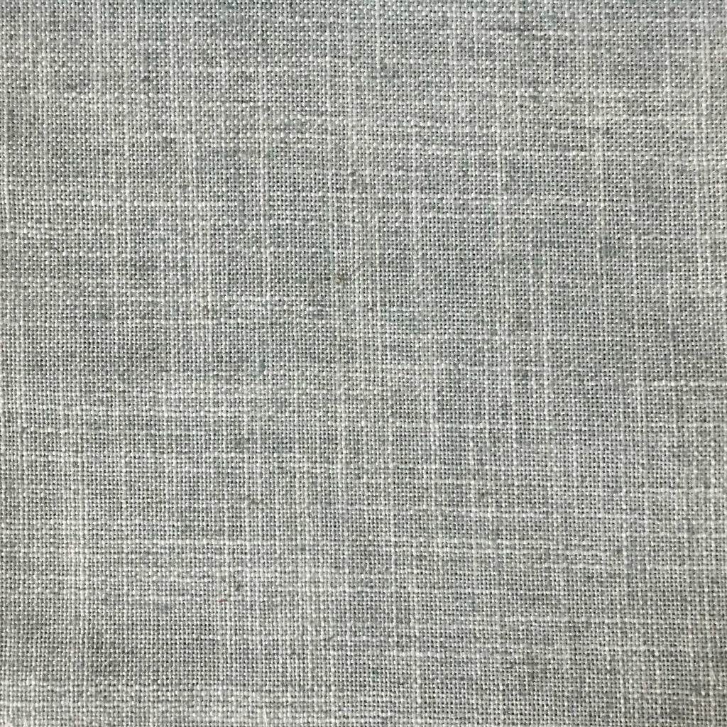 Blake - Linen Polyester Blend Burlap Upholstery Fabric by the Yard - Available in 30 Colors - Mist w/ Backing - Top Fabric - 27