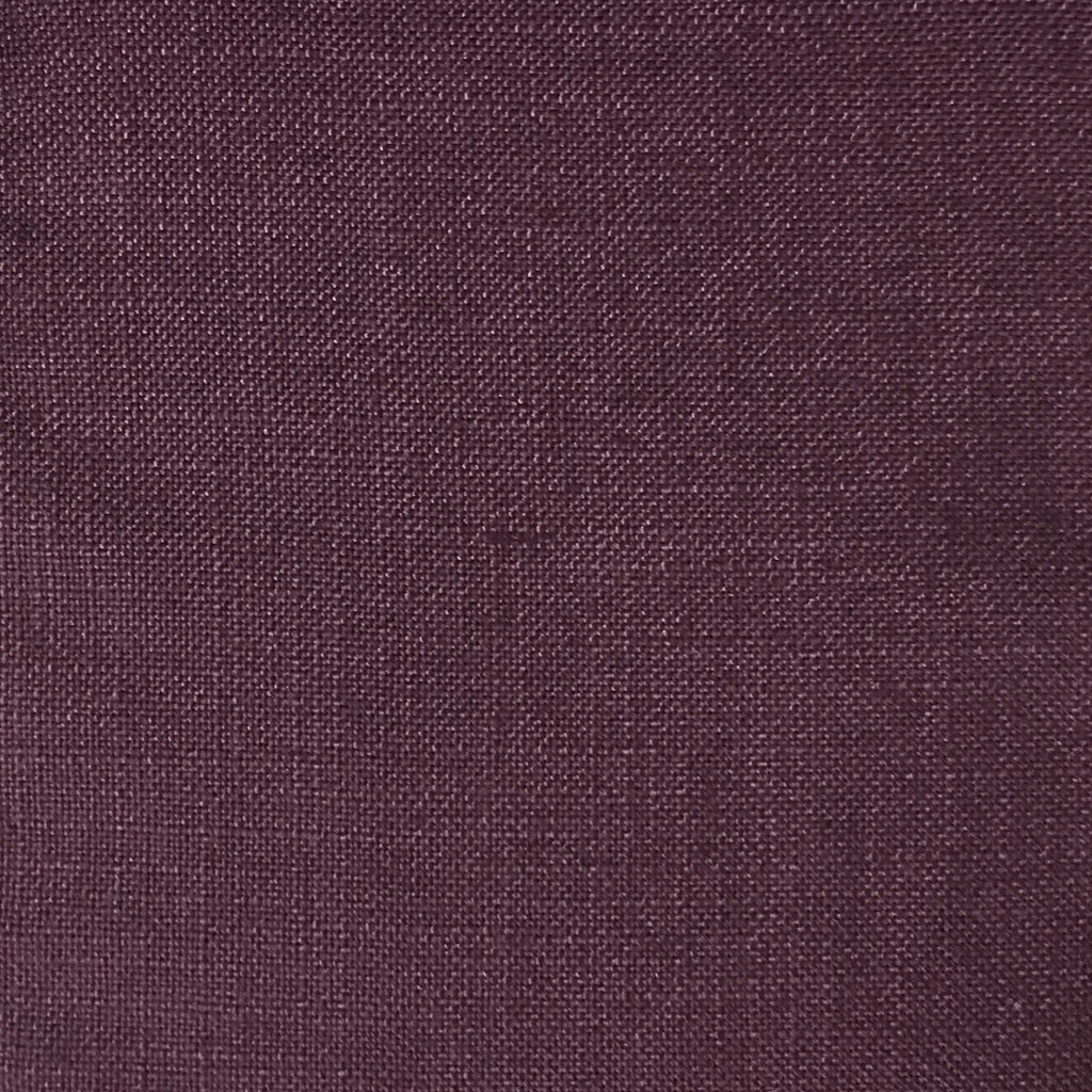 Blake - Linen Polyester Blend Burlap Upholstery Fabric by the Yard - Available in 30 Colors - Oxblood - Top Fabric - 4