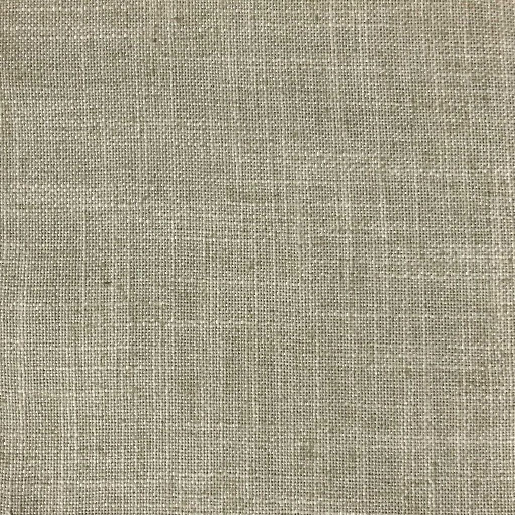 Blake - Linen Polyester Blend Burlap Upholstery Fabric by the Yard - Available in 30 Colors - Rawhide w/ Backing - Top Fabric - 28
