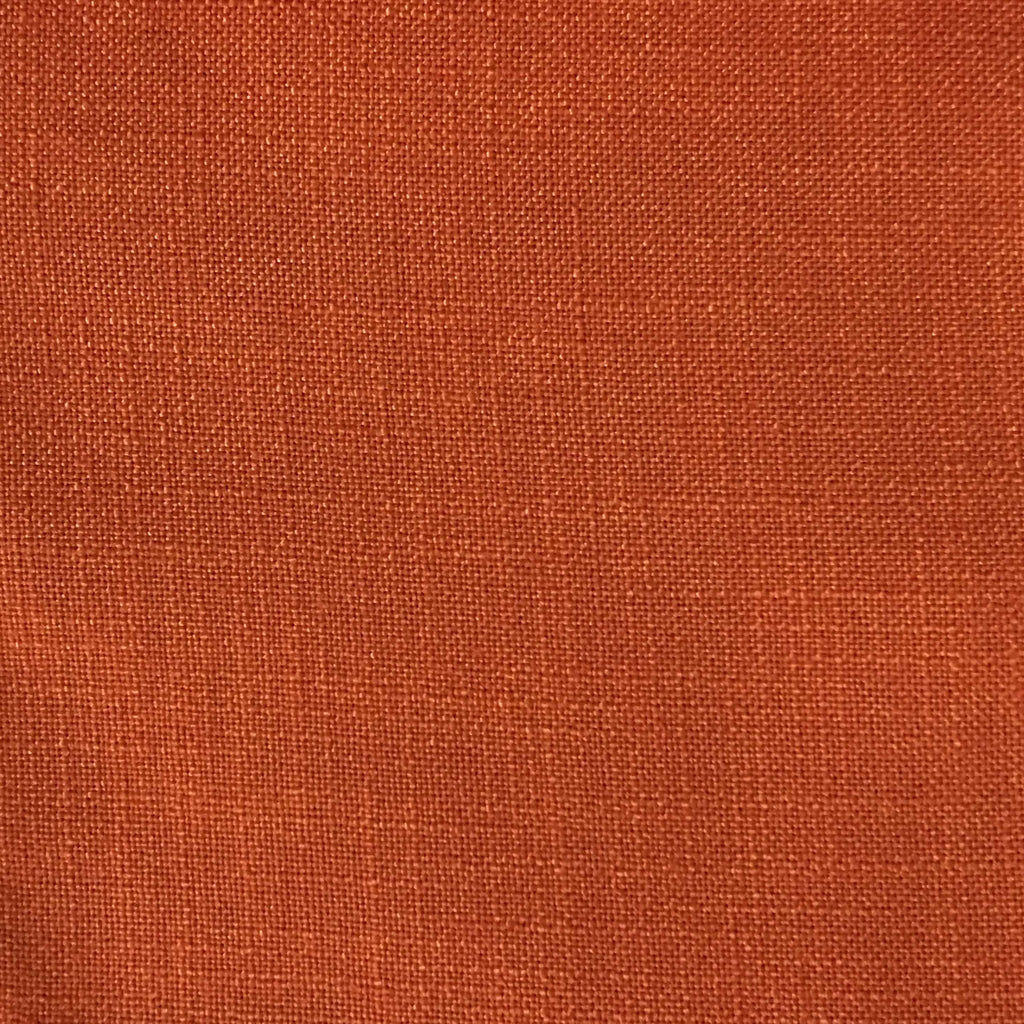 Blake - Linen Polyester Blend Burlap Upholstery Fabric by the Yard - Available in 30 Colors - Satsuma - Top Fabric - 7