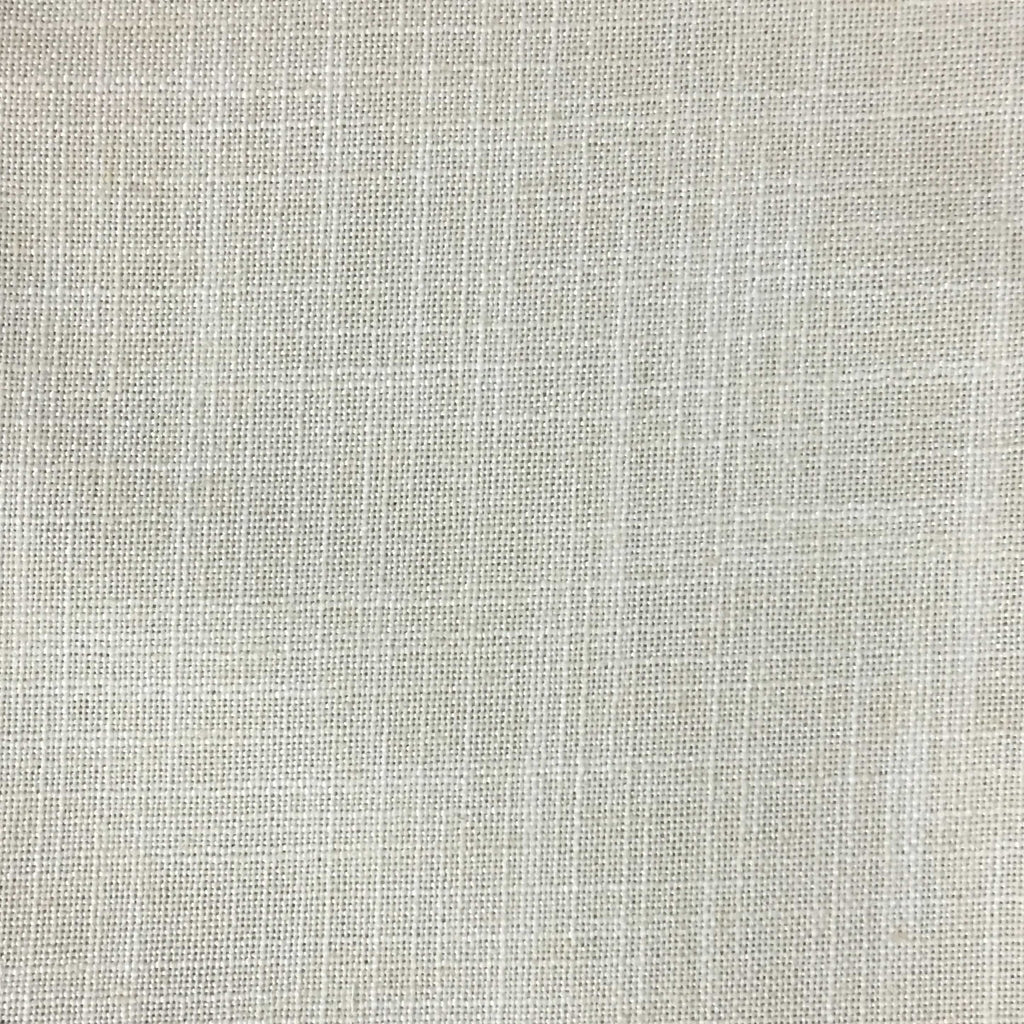 Blake - Linen Polyester Blend Burlap Upholstery Fabric by the Yard - Available in 30 Colors - Vanilla w/ Backing - Top Fabric - 29
