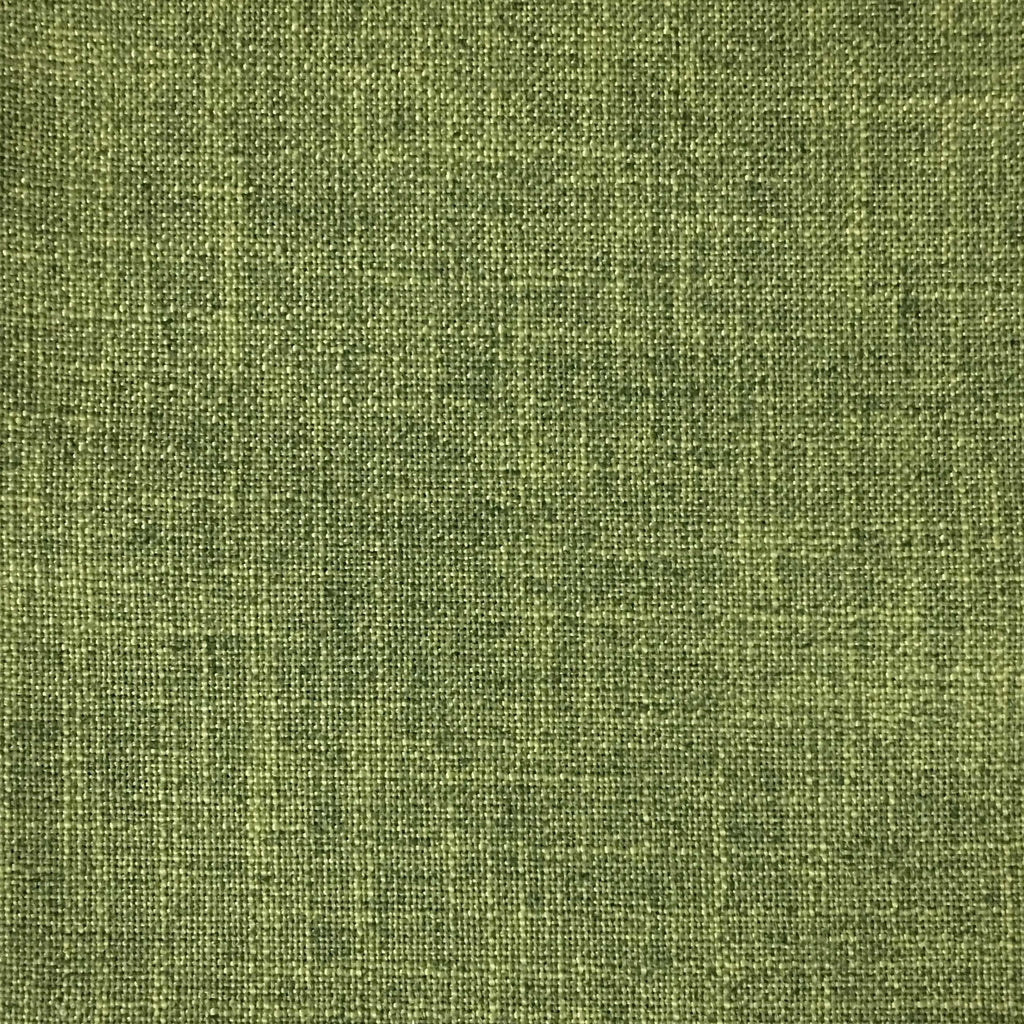 Blake - Linen Polyester Blend Burlap Upholstery Fabric by the Yard - Available in 30 Colors - Wasabi w/ Backing - Top Fabric - 11