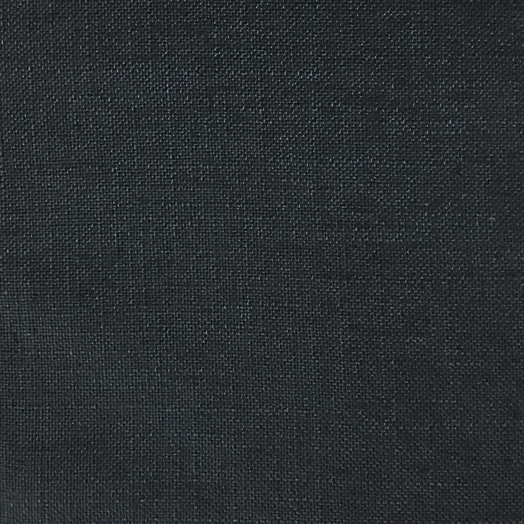 Blake - Linen Polyester Blend Burlap Upholstery Fabric by the Yard - Available in 30 Colors - Zinc w/ Backing - Top Fabric - 18