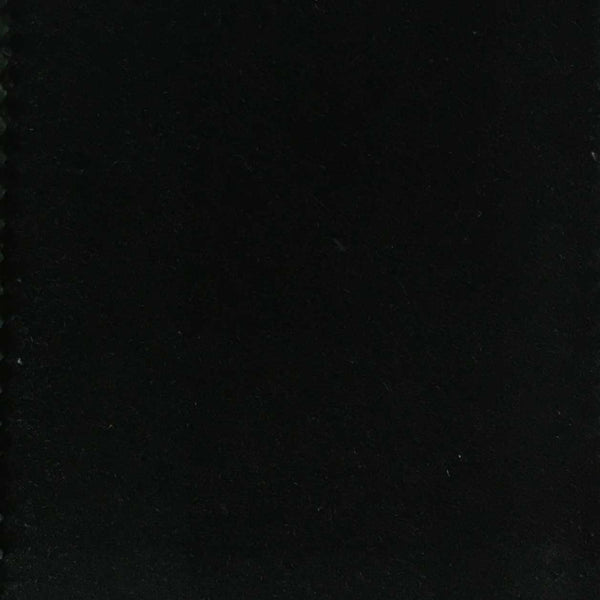 Bowie - 100% Cotton Velvet Upholstery Fabric by the Yard - Available in 77 Colors - Black - Top Fabric - 1