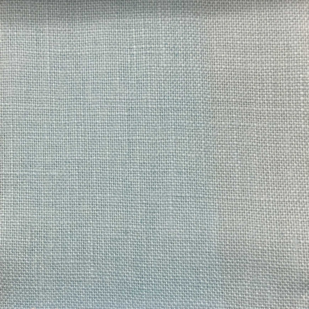 Brighton - 100% Linen Fabric Window Curtain & Drapery Fabric by the Yard - Available in 48 Colors - Baby Blue - Top Fabric - 36