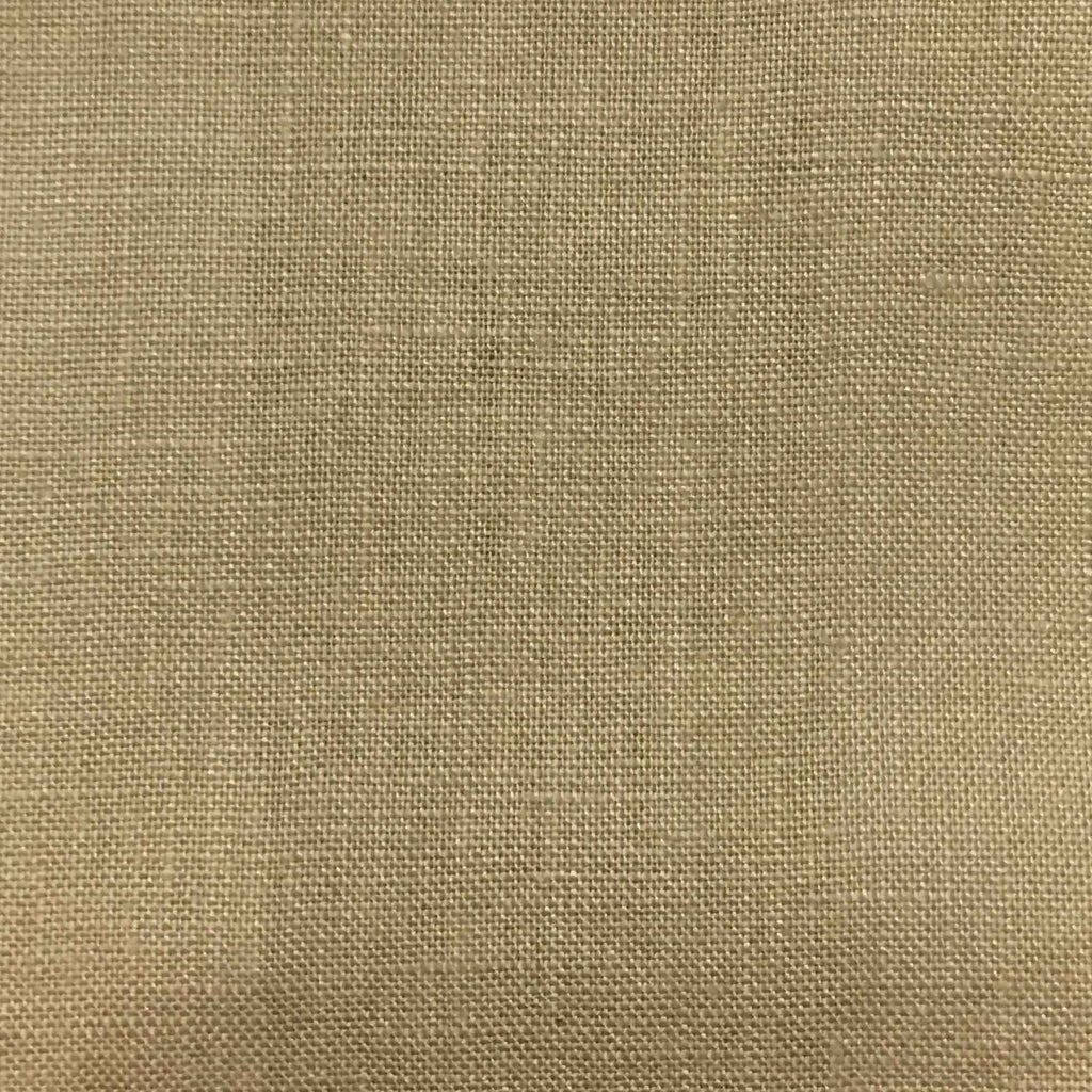 Brighton - 100% Linen Fabric Window Curtain & Drapery Fabric by the Yard - Available in 48 Colors - Camel - Top Fabric - 19