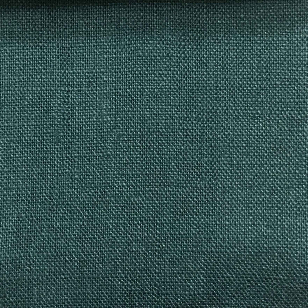 Brighton - 100% Linen Fabric Window Curtain & Drapery Fabric by the Yard - Available in 48 Colors - Deep Water - Top Fabric - 29