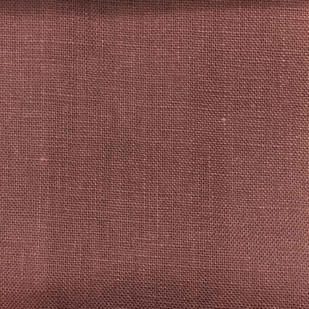 Brighton - 100% Linen Fabric Window Curtain & Drapery Fabric by the Yard - Available in 48 Colors - Dusty Violet - Top Fabric - 10