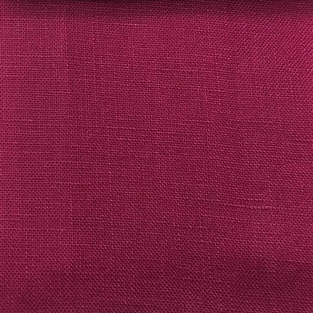 Brighton - 100% Linen Fabric Window Curtain & Drapery Fabric by the Yard - Available in 48 Colors - Fuchsia - Top Fabric - 12