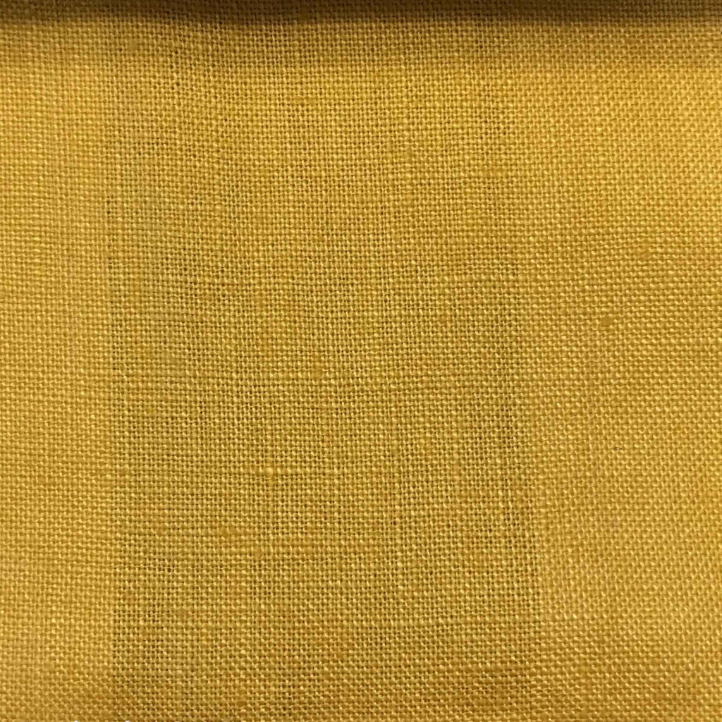 Brighton - 100% Linen Fabric Window Curtain & Drapery Fabric by the Yard - Available in 48 Colors - Golden - Top Fabric - 13