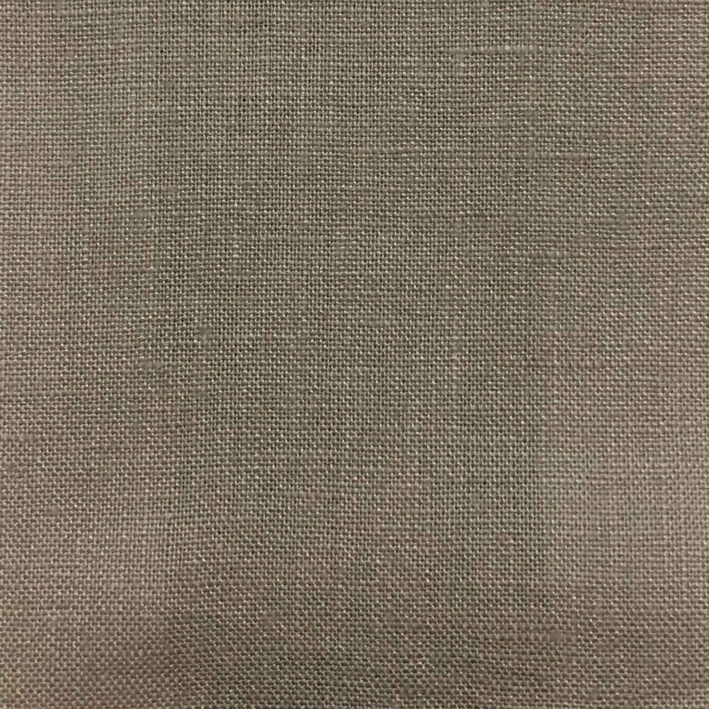 Brighton - 100% Linen Fabric Window Curtain & Drapery Fabric by the Yard - Available in 48 Colors - Grey - Top Fabric - 23