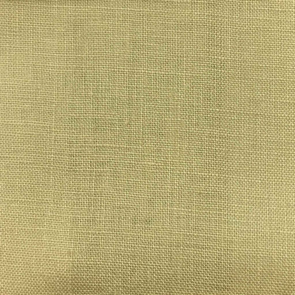 Brighton - 100% Linen Fabric Window Curtain & Drapery Fabric by the Yard - Available in 48 Colors - Khaki - Top Fabric - 18