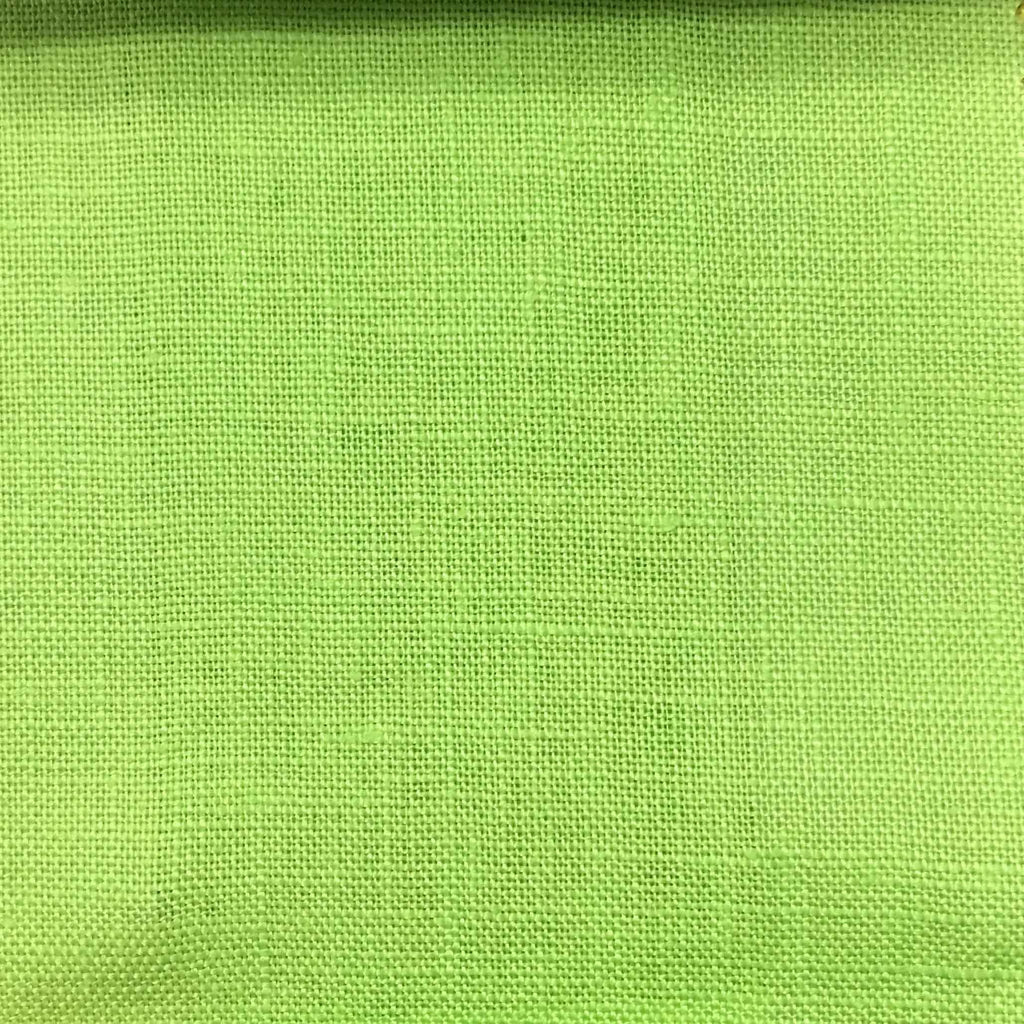 Brighton - 100% Linen Fabric Window Curtain & Drapery Fabric by the Yard - Available in 48 Colors - Lime - Top Fabric - 38