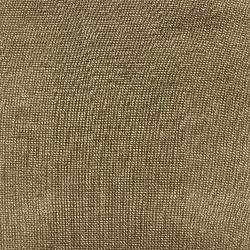 Brighton - 100% Linen Fabric Window Curtain & Drapery Fabric by the Yard - Available in 48 Colors - Linen - Top Fabric - 22
