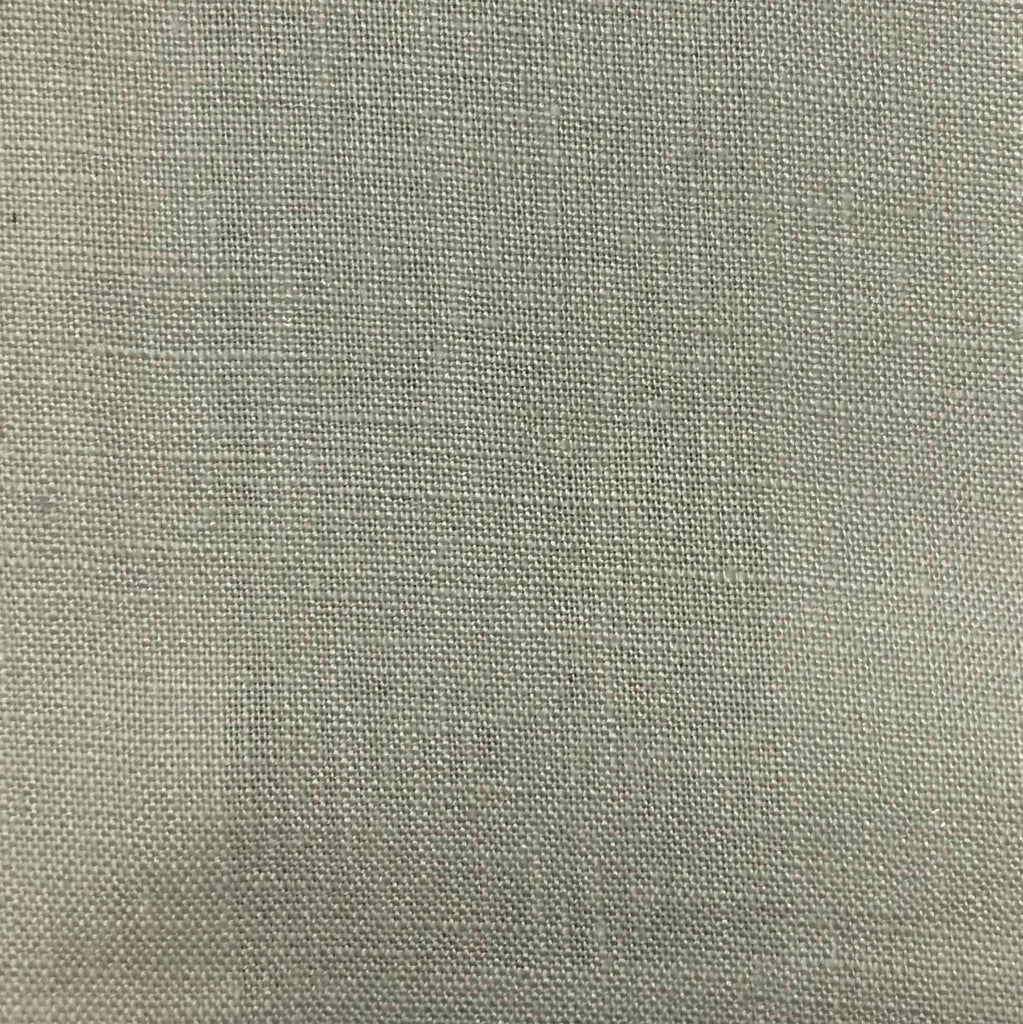 Brighton - 100% Linen Fabric Window Curtain & Drapery Fabric by the Yard - Available in 48 Colors - Misty - Top Fabric - 42